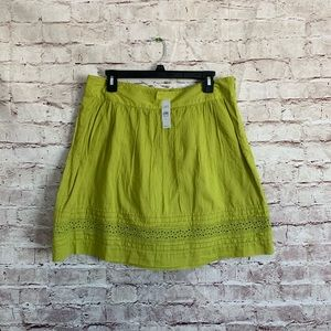 New LOFT 6 Green sembrar Boho Skirt A Line